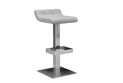 Lounge Upholstered Stool With Backrest