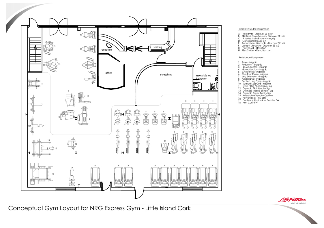 NRG Xpress Conceptual Gym Layout