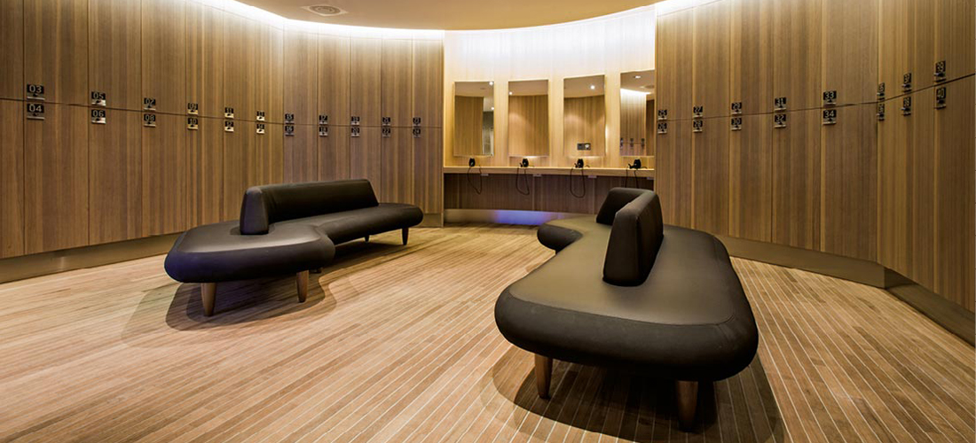 Locker room interior changing rooms lockers gyms health clubs