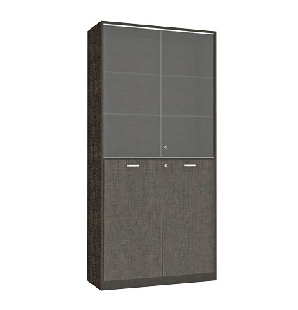 Lounge High Cabinet 2 Sliding Glass Doors