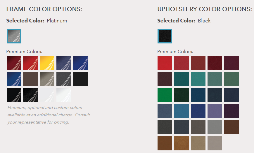 optima series colour options